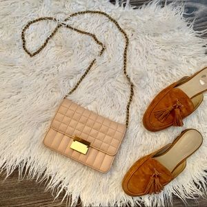 EUC J.Crew quilted leather crossbody purse
